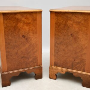 Pair of Antique Burr Walnut Chest of Drawers