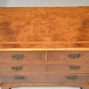 pair of antique burr walnut chests of drawers