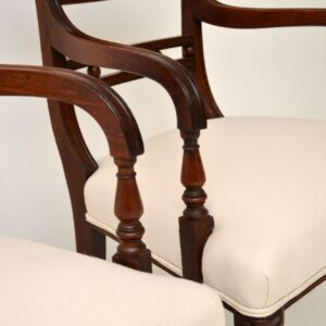 Pair of Antique George III Mahogany Open Armchairs