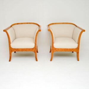 Pair of Antique Swedish Biedermeier Armchairs