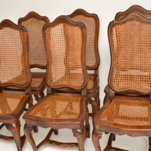 set of 8 eight antique french provincial dining chairs