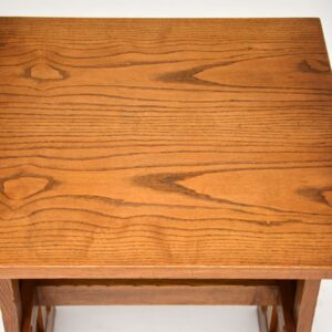 antique arts and crafts elm oak desk writing table