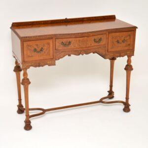 antique burr walnut server side table