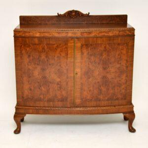 antique burr walnut cabinet sideboard