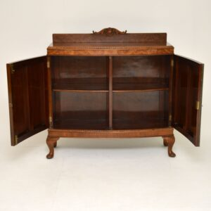 antique burr walnut cabinet sideboard