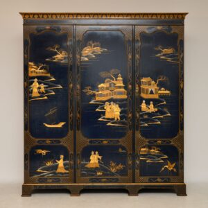 antique chinoiserie wardrobe hille