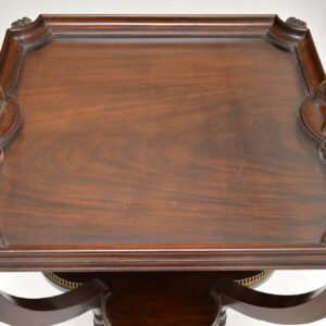 antique edwardian mahogany tray top side table