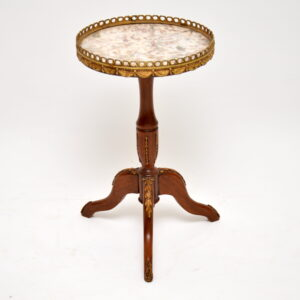 antique french marble top wine table