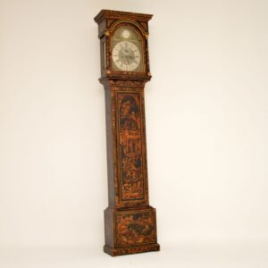 antique georgian chinoiserie grandfather clock