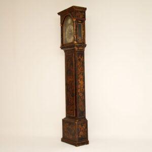 antique georgian chinoiserie grandfather clock