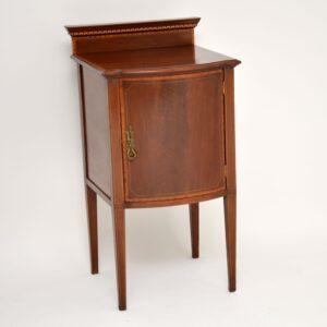 antique georgian edwardian mahogany bedside cabinet