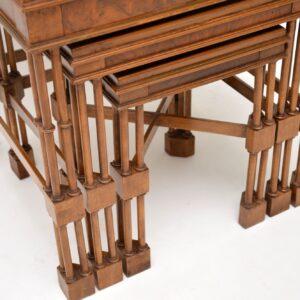 antique georgian walnut nest of tables