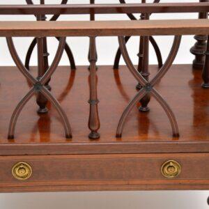 antique inlaid mahogany canterbury