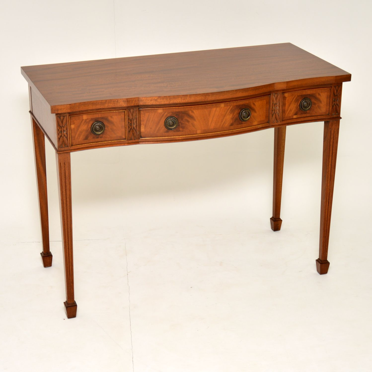 antique mahogany server console table