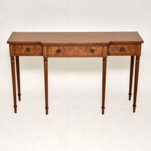 antique mahogany sheraton console side table