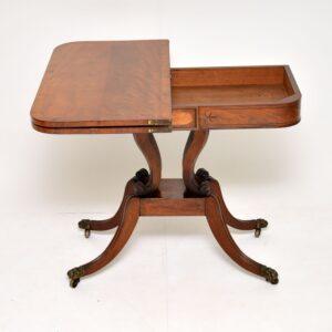 antique regency mahogany card table