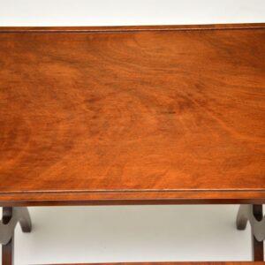 antique nest of three mahogany tables