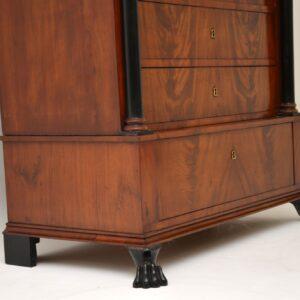 antique swedish mahogany biedermeier chest of drawers secretaire bureau
