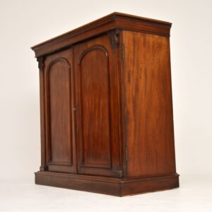antique victorian mahogany two door cabinet sideboard