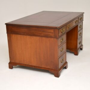 Antique George III Mahogany Partners Desk