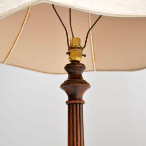 antique victorian walnut lamp stand