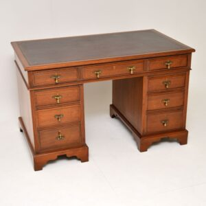 antique victorian walnut pedestal desk
