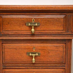 antique victorian walnut pedestal desk
