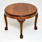 antique figured walnut queen anne coffee table