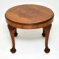 antique figured walnut queen anne coffee table