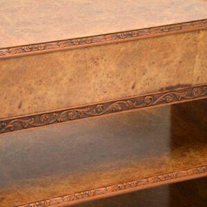 Antique Burr Walnut 3 Tier Buffet Server Table