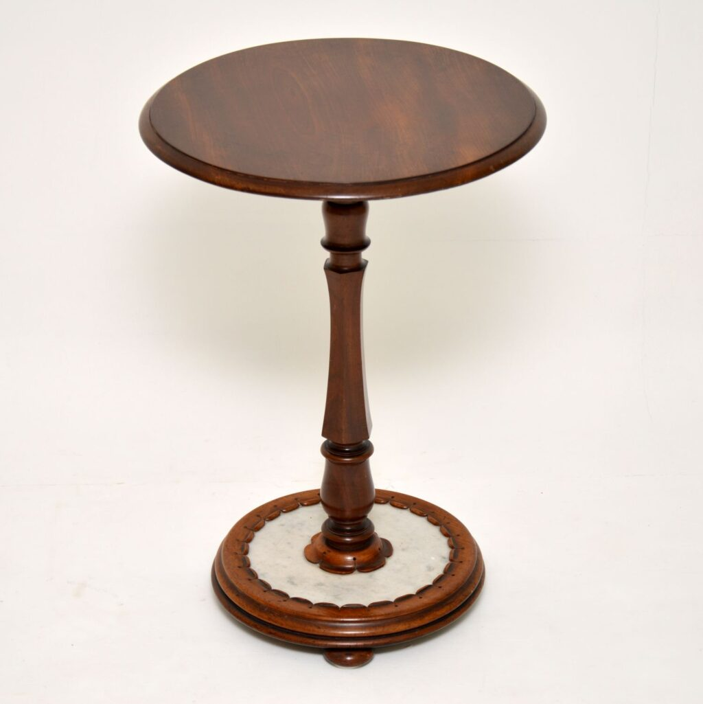 antique victorian william iv mahogany marble side table