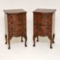 pair of antique georgian mahogany bedside chests of drawers