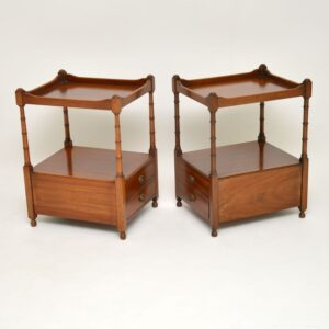 pair of antique mahogany side tables bedside cabinets