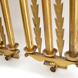 Set of 5 Antique Neo-Classical Brass Wall Sconce Lights