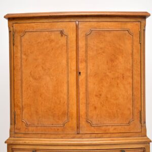 antique burr walnut cabinet on chest