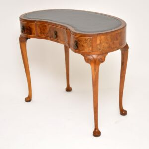 antique walnut kidney leather desk