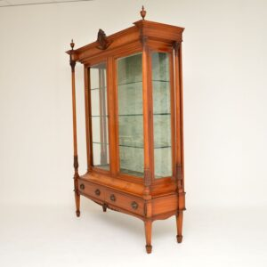 Antique Victorian Satinwood Display Cabinet