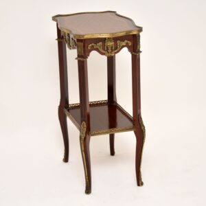 antique french inlaid parquetry side table
