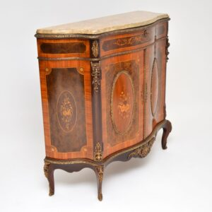 Antique French Marble Top Ormolu Mounted Cabinet