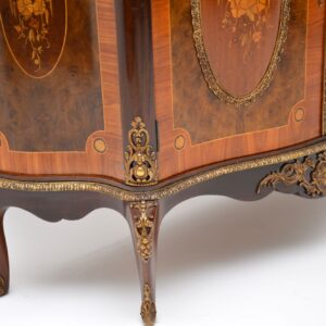 antique french marble top ormolu cabinet