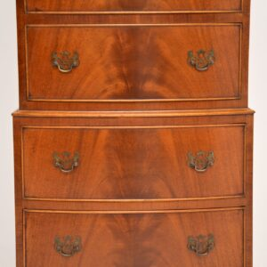 antique georgian mahogany chest on chest