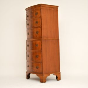 Antique Georgian Style Mahogany Chest on Chest
