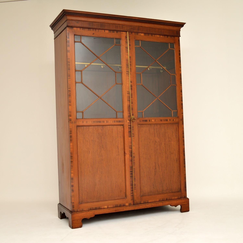 antique georgian inlaid mahogany wardrobe