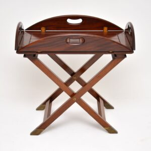 antique mahogany butlers tray table