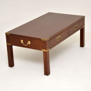 antique mahogany military campaign coffee table