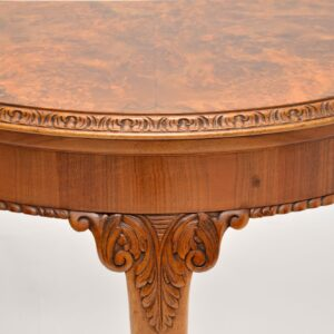 Antique Queen Anne Style Burr Walnut Card Table