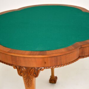 antique burr walnut queen anne card table