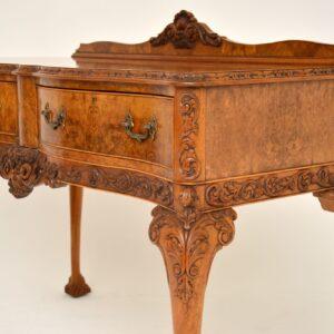 Antique Burr Walnut Server / Console Table