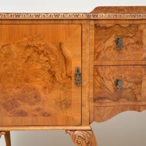 antique burr walnut queen anne sideboard