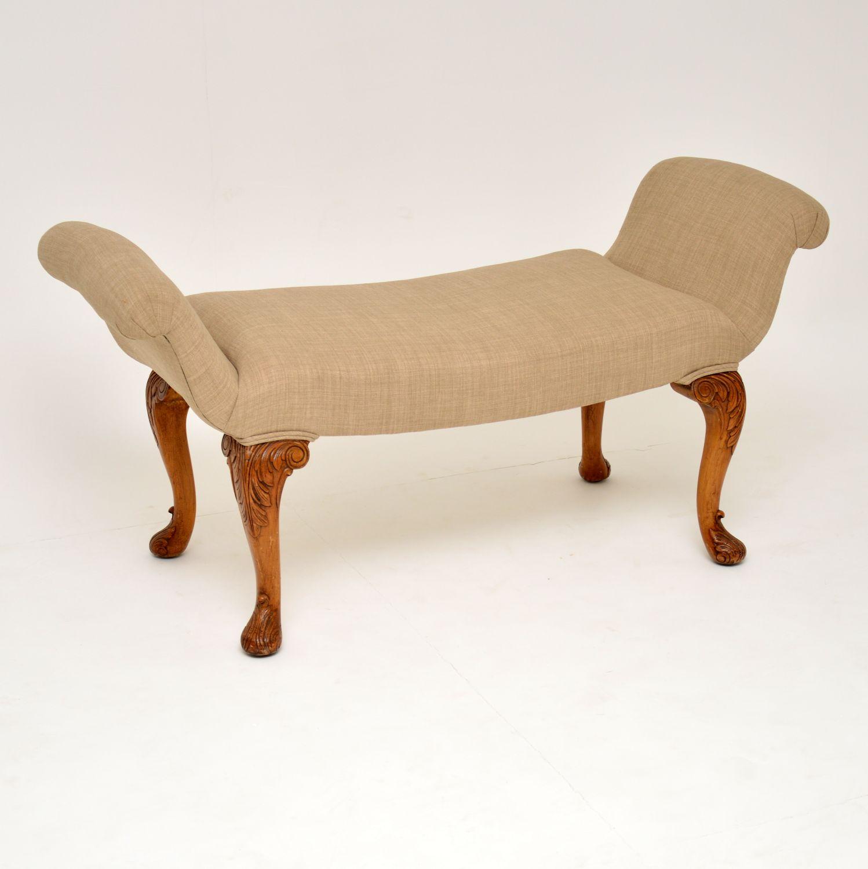 antique queen anne gondola stool